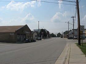 Main Street (looking west), Pittsboro Indiana (2009).jpg