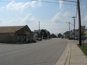 Pittsboro, Indiana - Looking west on Main Street