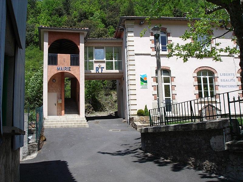Castanet-le-Haut (Hérault) - Mairie de Castanet-le-Haut.