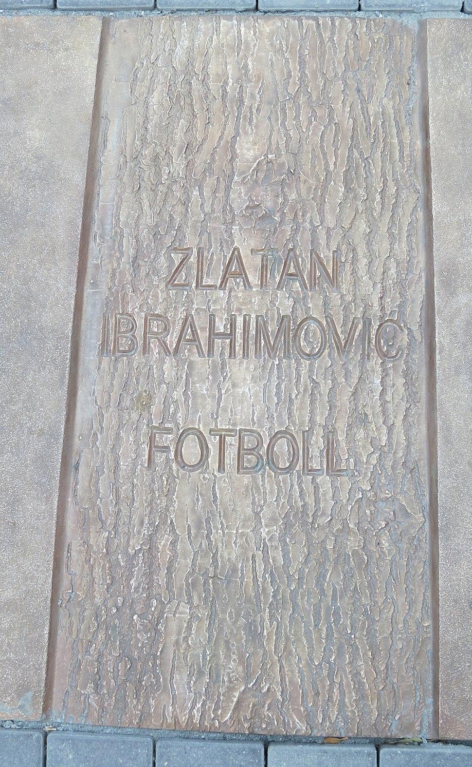 Malm%C3%B6 Idrottens walk of fame, Zlatan