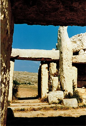 The megalithic temple of Mnajdra, detail (Malta)