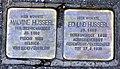 Malvine + Edmund Husserl, Stolpersteine in der Freiburger Lorettostraße 40.jpg