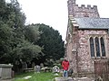 Mamhead Church with ancient yew tree - geograph.org.uk - 1764809.jpg