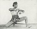 Man practicing wayang wong in in Yogyakarta (credited to Budaya), Kota Jogjakarta 200 Tahun, plate after page 152.jpg