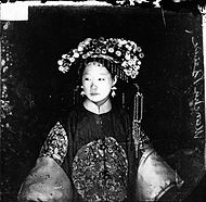 Manchu bride, Peking, Penchilie province, China Wellcome L0018855.jpg