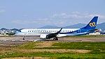 Mandarin Airlines Embraer 190 B-16828 Departing from Taipei Songshan Airport 20150103d.jpg