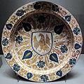 Manises, bacile con arme, 1450-1500 ca..JPG