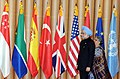 Manmohan Singh and his wife Smt. Gursharan Kaur arrive at the welcome reception of G-20 Summit, hosted by the President of South Korea, Mr. Lee Myung-bak, at the National Museum, in Seoul, South Korea on November 11, 2010.jpg