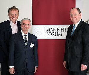 Mannheim Forum - Frank Plasberg, Paul Achleitner and Peer Steinbrück on Mannheim Forum 2014
