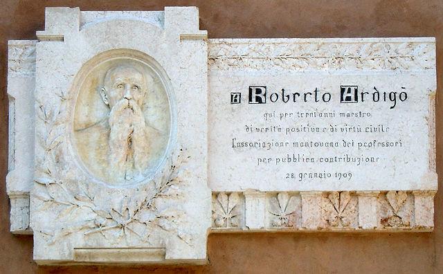 Мемориальная доска в Мантуе