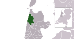 Highlighted position of Schagen in a municipal map of North Holland