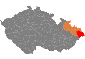 Frýdek-Místek District - Image: Map CZ district Frydek Mistek