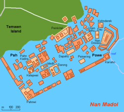 Nan Madol ~  Mystery 'haunted' city in the middle of the sea 250px-Map_FM-Nan_Madol