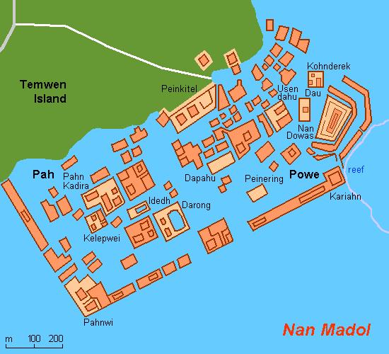 Map FM-Nan Madol