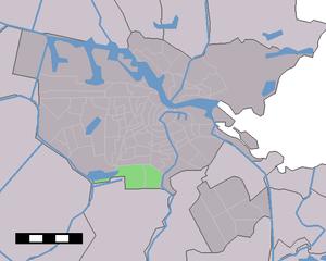 Buitenveldert - Image: Map NL Amsterdam Buitenveldert