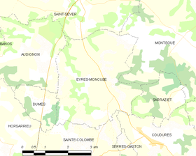 Map commune FR insee code 40098.png