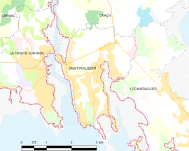 Mapa obce Saint-Philibert