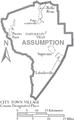 Map of Assumption Parish Louisiana With Municipal Labels.PNG