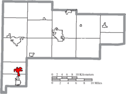Location of New Bremen in Auglaize County