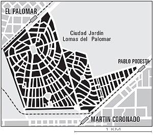 Ciudad Jardín Lomas del Palomar - Map of Ciudad Jardín