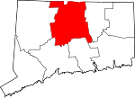 Map of Connecticut highlighting Hartford County.svg