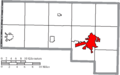Map of Defiance County Ohio Highlighting Defiance City.png