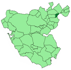 Location of El Gastor