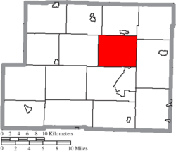 Location of Archer Township in Harrison County