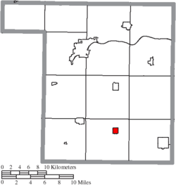 Location of Hamler in Henry County