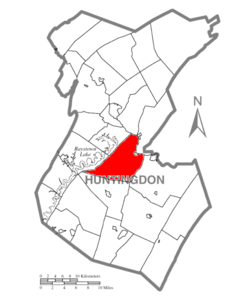 Map of Huntingdon County, Pennsylvania Highlighting Union Township.PNG