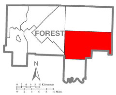 Map of Jenks Township, Forest County, Pennsylvania Highlighted.png
