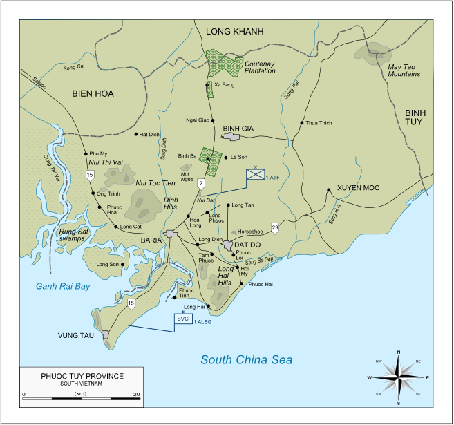 Map of Phuoc Tuy Province South Vietnam