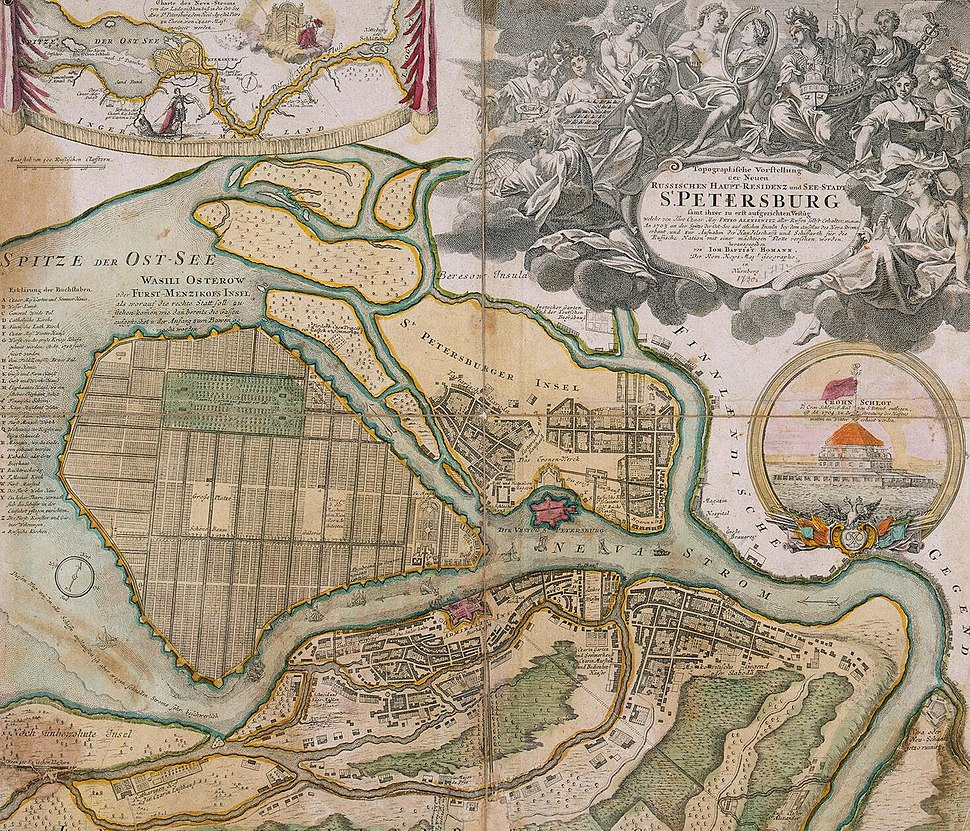 Map of Saint-Petersburg in 1720 (Homann)