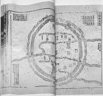 C. Y. Tung Maritime Museum - Map of the Old City of Shanghai in Shanghai Xianzhi.