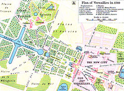 Map of Versailles in 1789 by William R Shepherd (died 1934).jpg