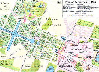 Women's March on Versailles - Map of Versailles in 1789