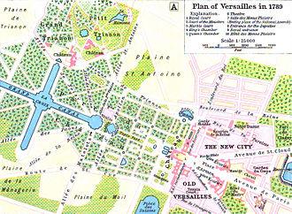 Versailles, Yvelines - Versailles in 1789.