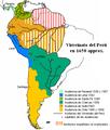 Mapa del América del Sur resp. del Virreinato del Perú en 1650 approx.png