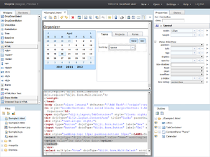 Maqetta - Image: Maqetta designer preview 1 WYSIWYG and source