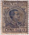 Marca da Bollo Cent. Dieci Vittorio Emanuele III (revenue stamp Italian).TIF