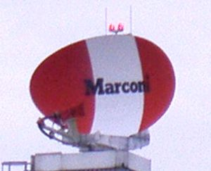 Marconi Electronic Systems - Marconi S511 radar located at Norwich International Airport