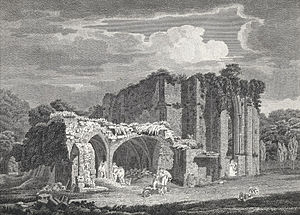 Margam Abbey - Margam Abbey ruins 1805