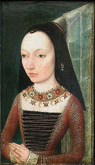 Margaret of York - Portrait by anonymous painter, ca. 1468