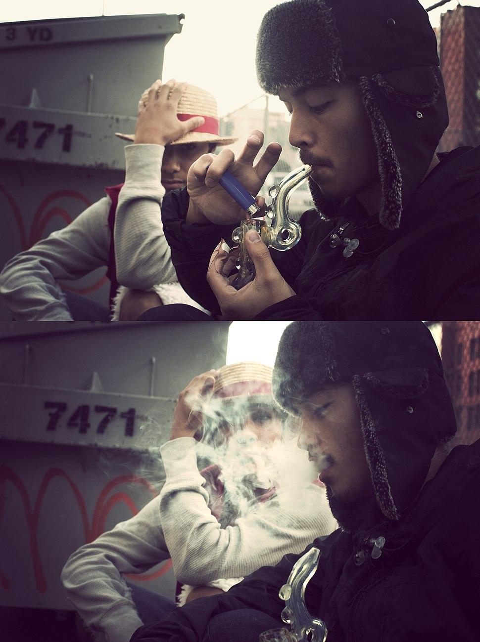 Marijuana smoking glass