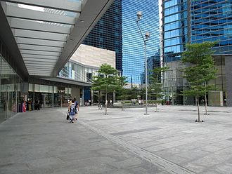 Marina Bay Financial Centre - Marina Bay Financial Centre open space in December 2010