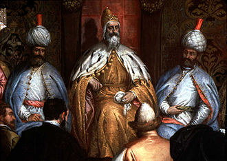 Marino Grimani (doge) - Gabriele Caliari, Marino Grimani receiving the Persian ambassador c. 1600. Venice, in the Doge's Palace