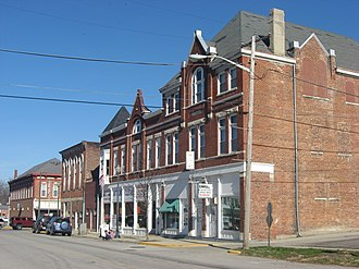 Liberty, Indiana - Commercial district of Liberty, Indiana