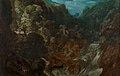 Marten Rijckaert (toegeschreven) - Een rotsachtige landschap met een Waterval en de vlucht naar Egypte.jpg