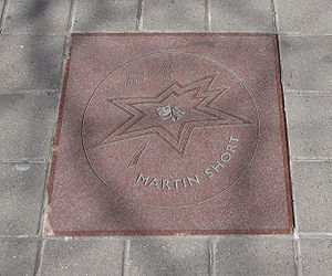 Martin Short - Short's star on Canada's Walk of Fame