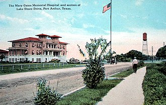 John Warne Gates - Mary Gates Memorial Hospital, Port Arthur, Texas